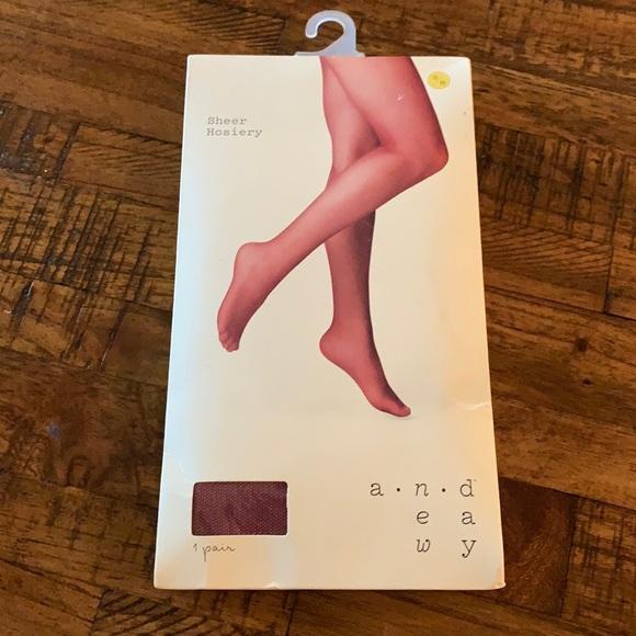 3/$10 NEW cranberry pantyhose hosiery